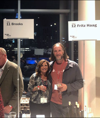 Janie and Chris at the Top 100 Tasting