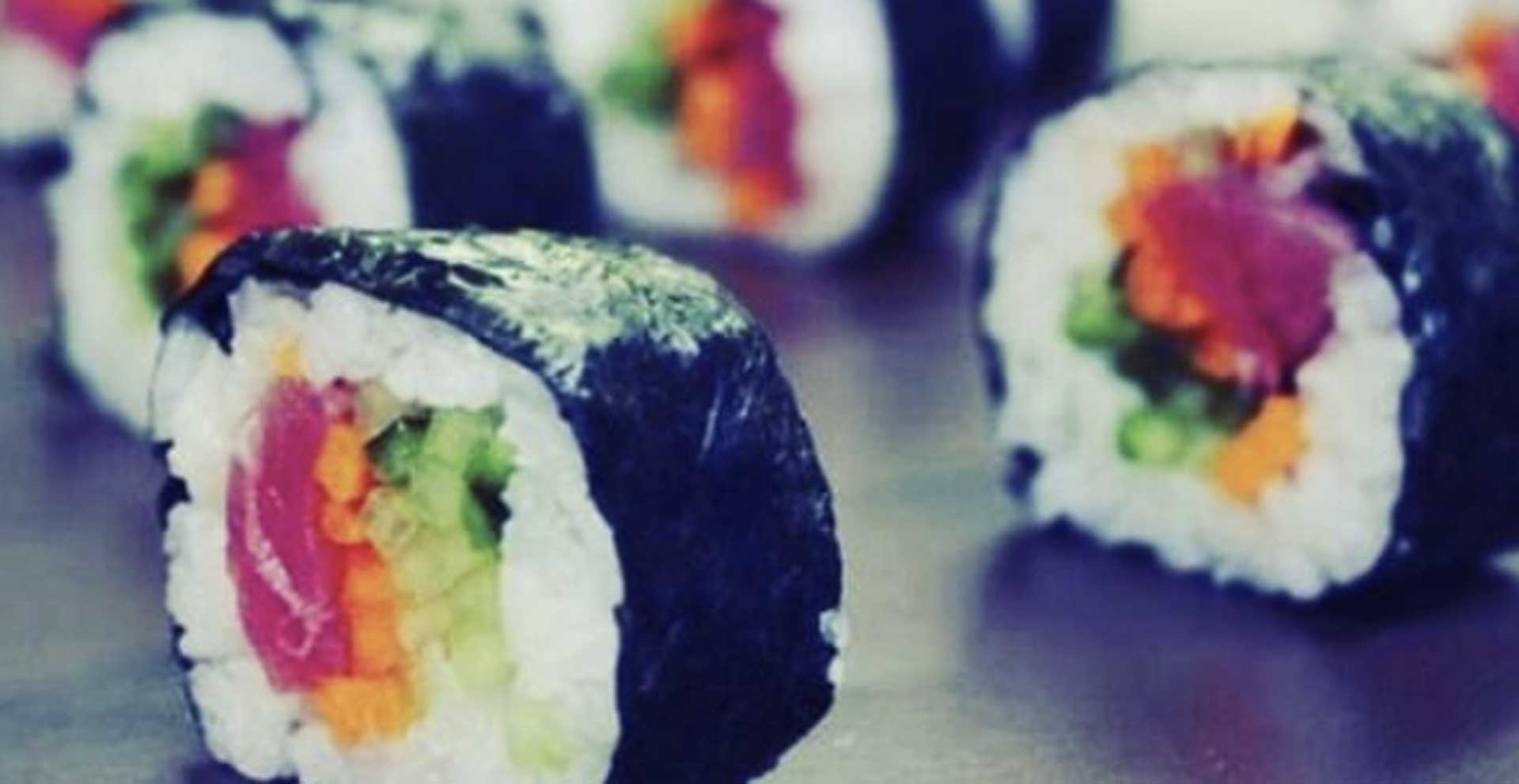 photo of sushi lined up